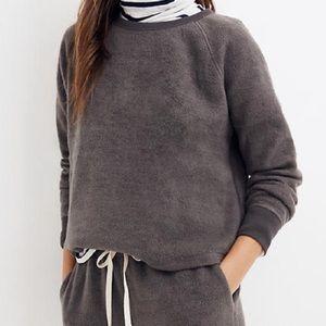 NWT Madewell Fleece Pajama Sweatshirt Size Small